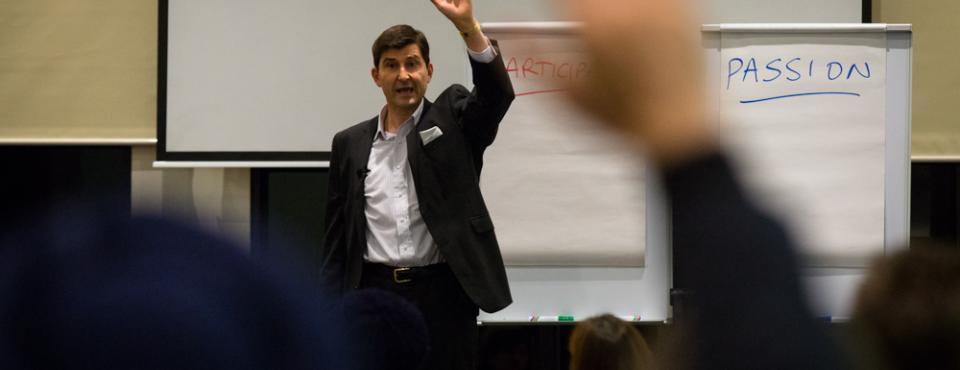 Phil Schibeci public speaking in Melbourne